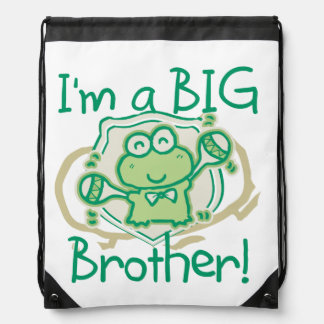 Happy Frog Big Brother Drawstring Bag