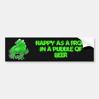 happy frog bumper stickers