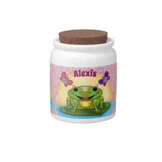Happy Frog Candy Jar