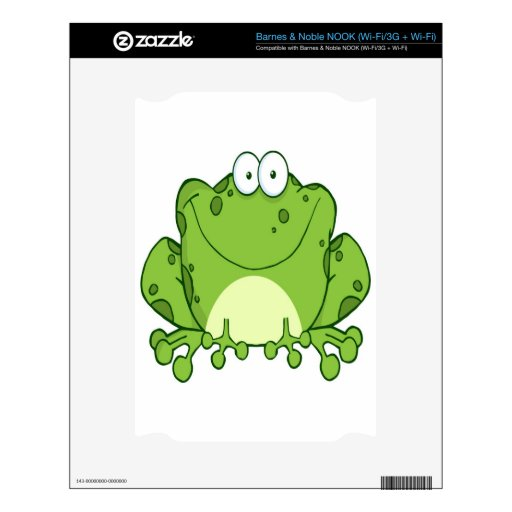 Happy Frog Cartoon Character Decal For The NOOK