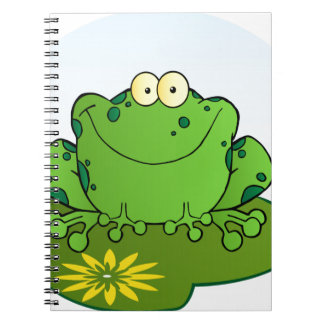 Happy Frog Cartoon Character Note Books