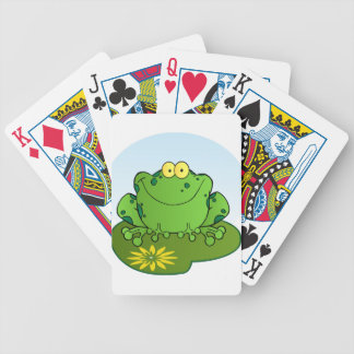 Happy Frog Cartoon Character Bicycle Playing Cards