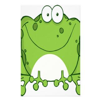 Happy Frog Cartoon Character Stationery Design