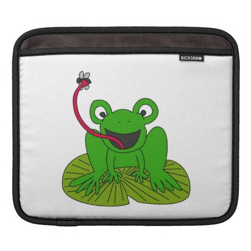 Happy frog cartoon sleeves for iPads