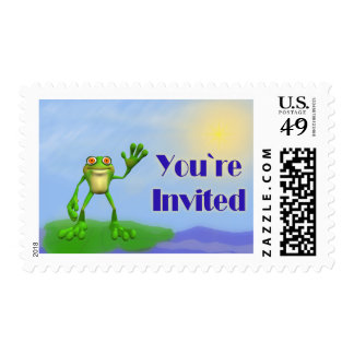 Happy Frog-Invite Postage