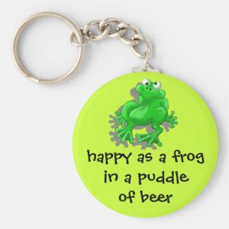 happy frog keychain