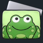 "Happy Frog Laptop Sleeve<br><div class=""desc"">Cute little froggy sleeve for your gear</div>"