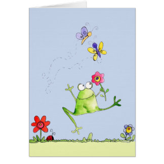 Happy Frog - Note Card