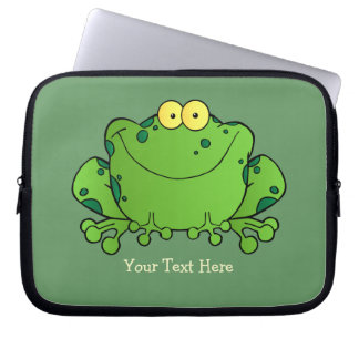 Happy Frog (personalized) Case Laptop Computer Sleeves