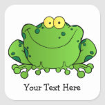 Happy Frog (personalized) Stickers