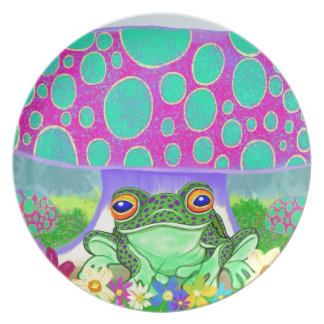 Happy Frog Party Plates