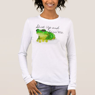 """Happy Frog """"Shut Up and Kiss Me"""" T-shirt (White)"""