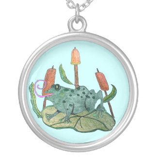 Happy Frog Silver Plated Necklace