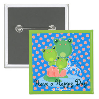 Happy Frogs Buttons