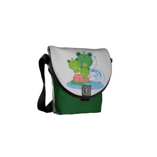 Happy Frogs Courier Bag