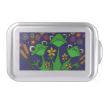Happy Frogs Folk Art Cake Pan