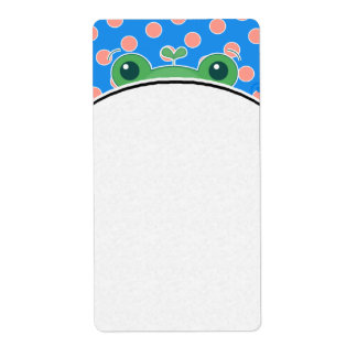 Happy Frogs Shipping Label
