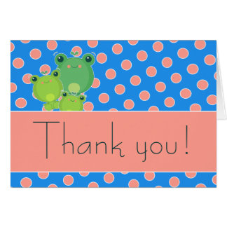 Happy Frogs Stationery Note Card