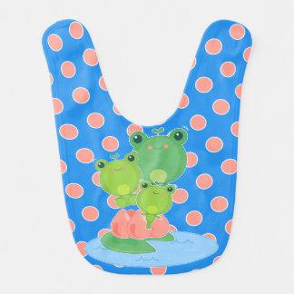 Happy Frogs Baby Bibs