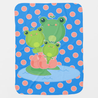 Happy Frogs Receiving Blankets