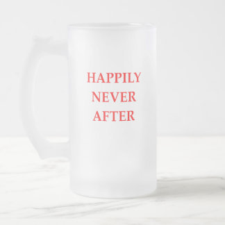 HAPPY FROSTED GLASS BEER MUG