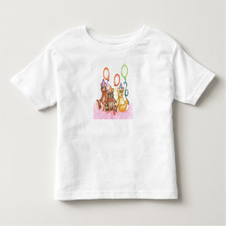 Happy Fun Time With 3 Little Friends Toddler T-shirt