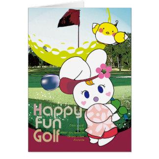 HAPPY FUN Usagi G Greeting Card