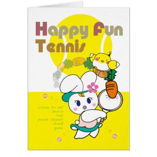 HAPPY FUN Usagi T Greeting Card