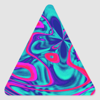 HAPPY FUNKY ABSTRACT 2 TRIANGLE STICKER
