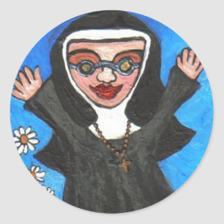 Happy Funky Preachin' Nun - sticker