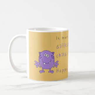 Happy funny fathers day with monster coffee mug