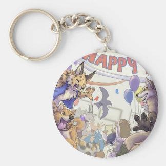 Happy furry con Keychain