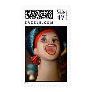 Happy Gal Vintage Mannequin Head stamp