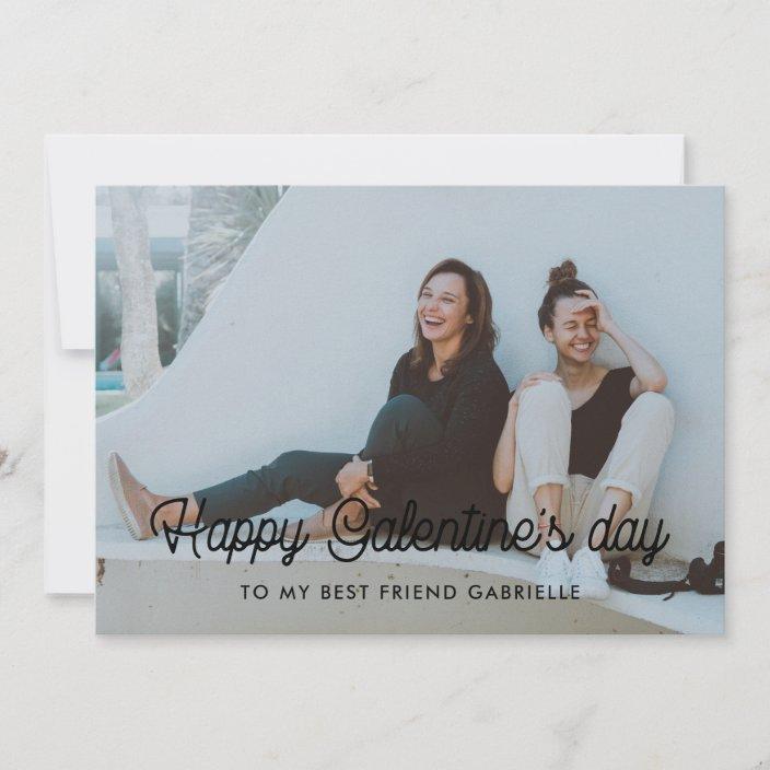 Happy Galentine S Day Best Friend Photo Card Zazzle Com
