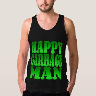 Happy Garbage Man in Green Tank Top
