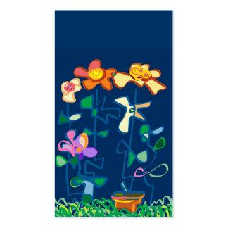 Happy Garden flowers Business Card Template