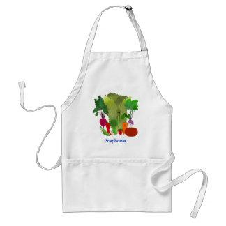 Happy Garden Veggies Adult Apron