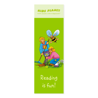 Happy Gardeners bookmark for young books lovers! Mini Business Card