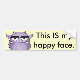 Happy Gargoyle Cartoon - Fantasy Bumper Sticker
