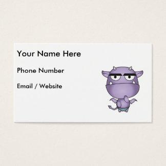 Happy Gargoyle Cartoon - Fantasy Business Card