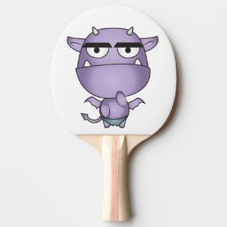 Happy Gargoyle Cartoon - Fantasy Ping Pong Paddle