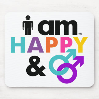 Happy Gay and Okay LBGT Mouse Pad