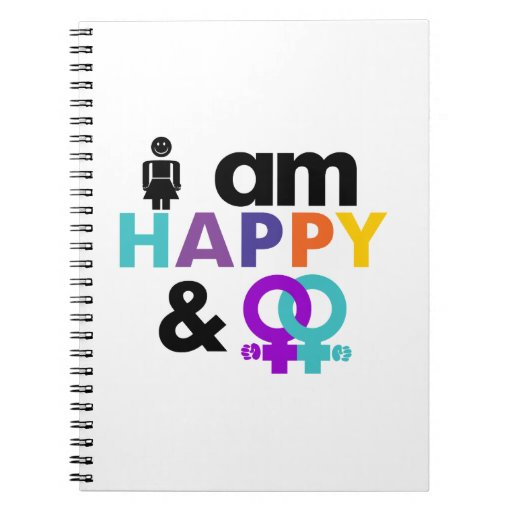Happy Gay and Okay LBGT Spiral Note Books