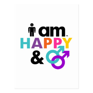 Happy Gay and Okay LBGT Postcard