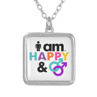 Happy Gay and Okay LGBT Personalized Necklace