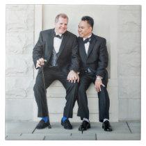 Happy Gay Couple Ceramic Photo Tile