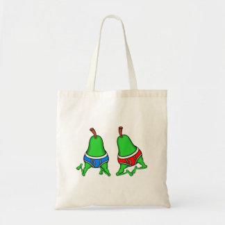 Happy Gay Pride Couple Pears Tote Bag
