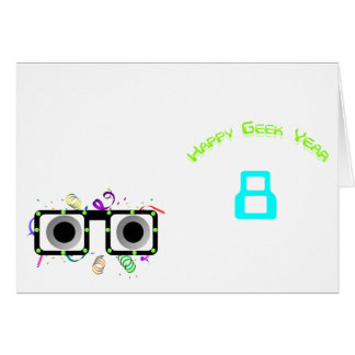 Happy Geek Year Table Tent Template Card