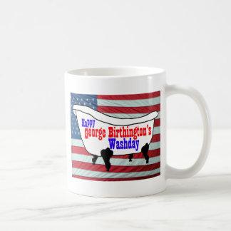 Happy George Birthington's Washday Products Mug