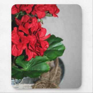 Happy Geraniums Mouse Pad